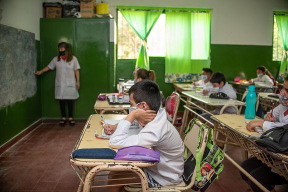 Las 100 escuelas servirán como muestreo representativo de la situación escolar en la provincia.  Foto: Marcelo Rodríguez