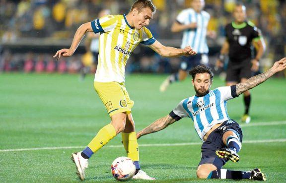 Central le ganó a Racing por un gol de Marco Ruben y amargó el debút de Gago