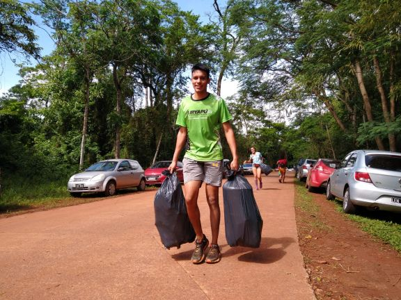 Corredores reunieron 50 de kilos de basura en Iguazú
