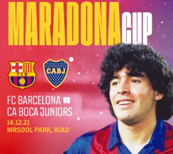 Es oficial: Barcelona y Boca jugarán en Arabia Saudita la Maradona Cup