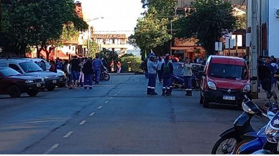 Complicación en el tránsito de Oberá por protesta de municipales