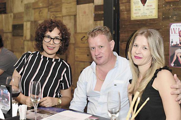 Julia Acosta, Norberto Ruff y Gladys Knach.