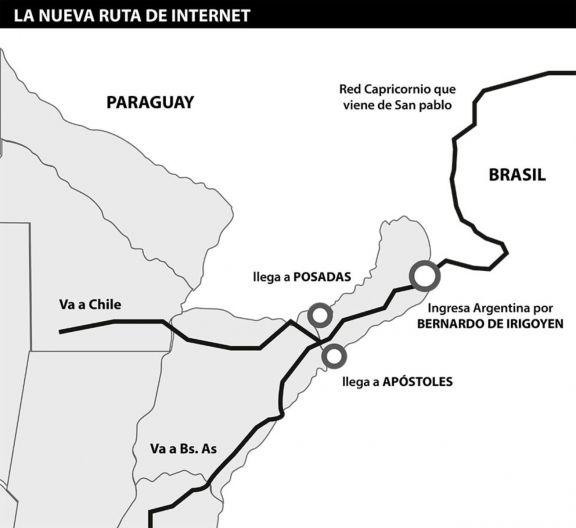 Misiones recibirá internet más veloz y económica proveniente de San Pablo