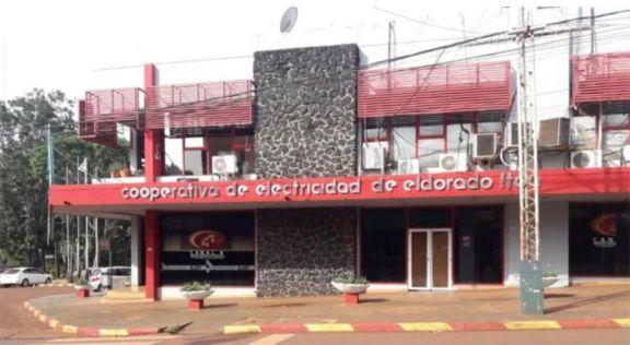 Fachada del edificio central de la Cooperativa de Electricidad de Eldorado Limitada (Ceel)