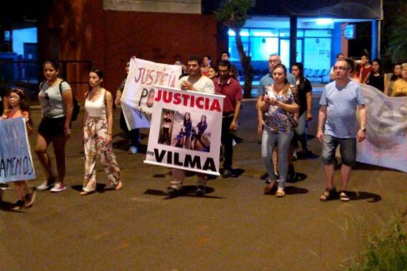 Puerto Iguazú volvió a movilizarse por el femicidio de Vilma Mercado