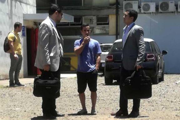 Cantero, ayer en sede judicial, culminando los trámites con sus abogados.