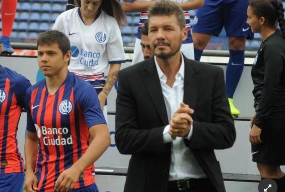 """Tinelli: """"Por encima de cualquier nombre está San Lorenzo"""""""