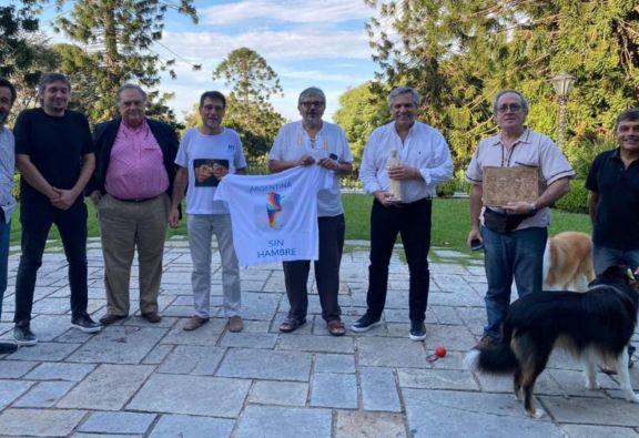 """El presidente Alberto Fernández recibió al """"Grupo de Curas en Opción por los Pobres"""""""