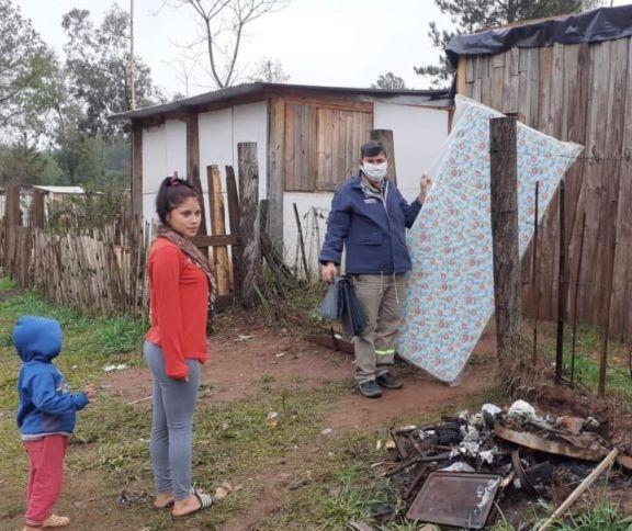 Fuertes precipitaciones ocasionaron desborde de arroyos en Andresito