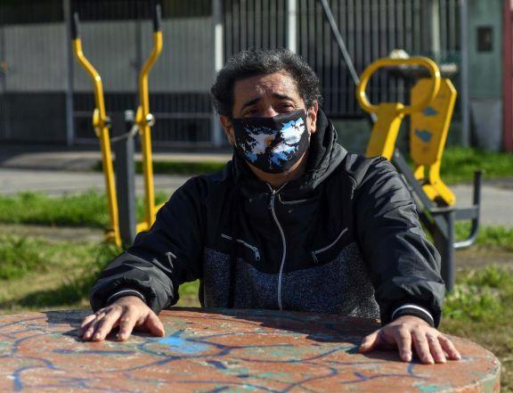 WalterTaboada en uno de los parques de Berazategui, de dónde es oriundo