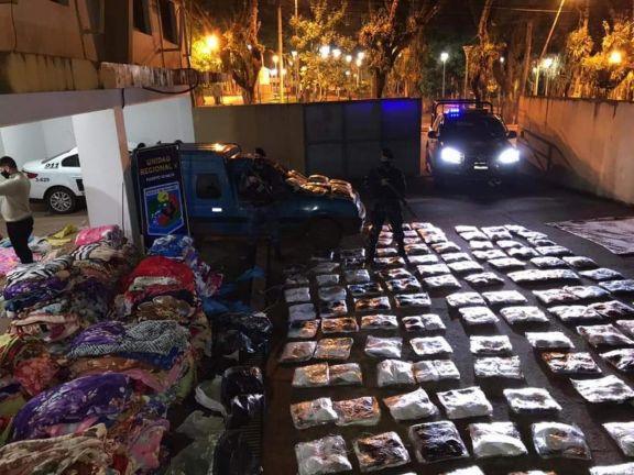 Mercadería secuestrada en Puerto Iguazú