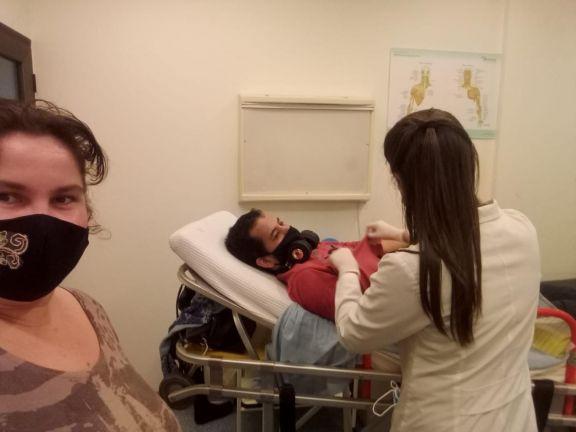 Esteban comenzó con los primeros pasos para obtener la anhelada bota ortopédica