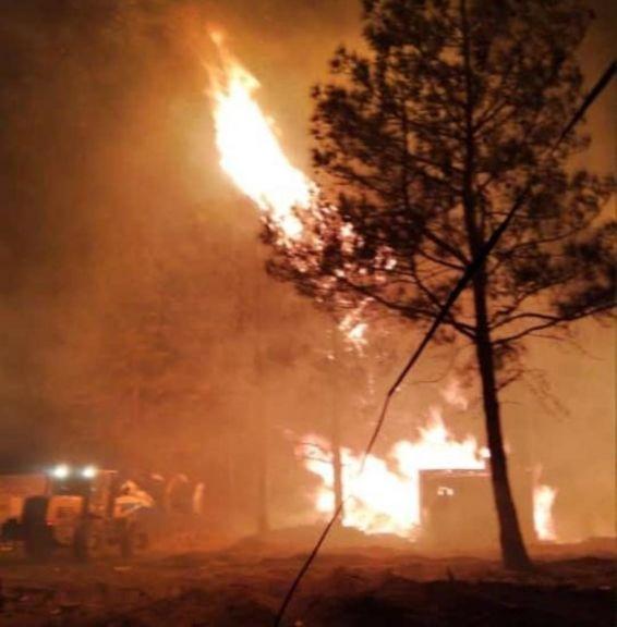 Villa Olivari: la destrucción del fuego en la noche del sábado