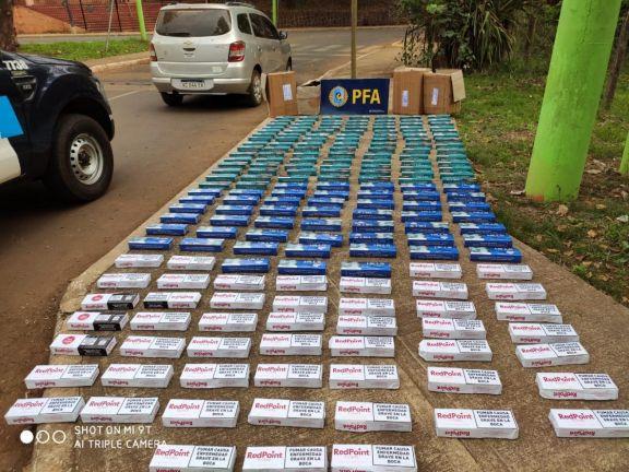 Policía Federal incautó 200 cartones de cigarrillos de contrabando en Iguazú