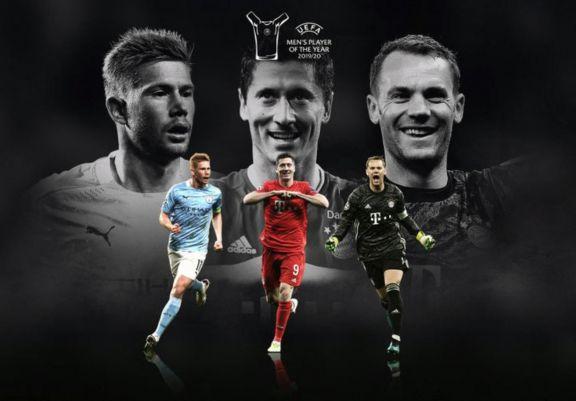 UEFA anunció los tres candidatos a ganar el premio a mejor jugador del año