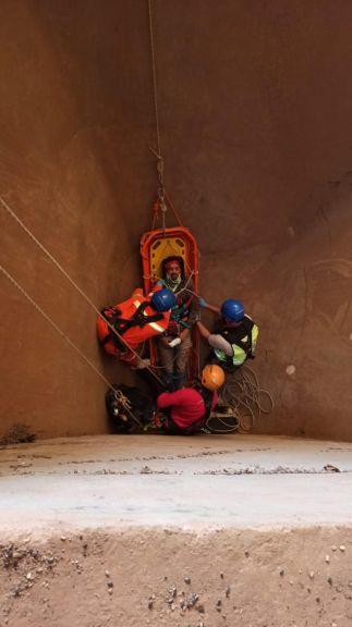 Iguazú: Cayó en un pozo y fue rescatado por el grupo GERSI