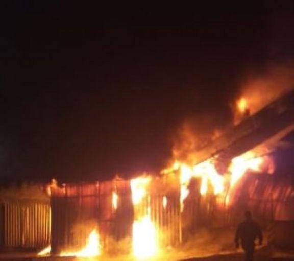 Dos de Mayo: daños tras incendio en depósito de Cooperativa Yerbatera