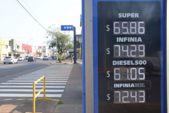 Ya rige el nuevo aumento de YPF: elevó a casi 66 pesos la nafta súper en Posadas
