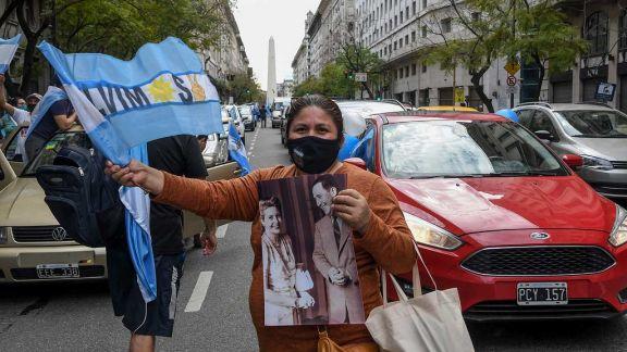 Hubo banderazos y marchas en todo el país por el Día de la Lealtad peronista