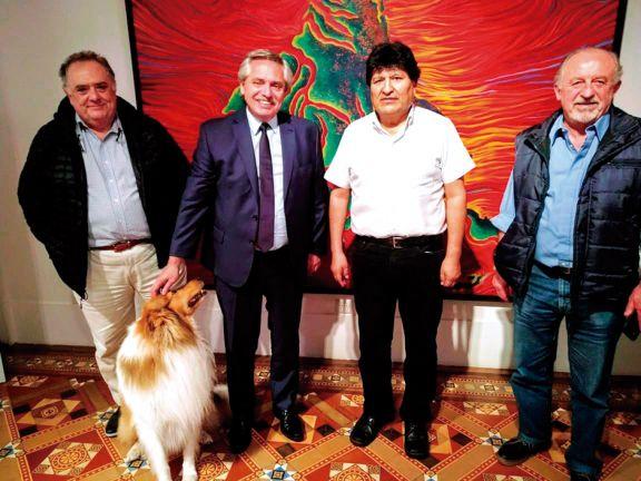 El presidente agasajó a Evo por el triunfo electoral de Luis Arce