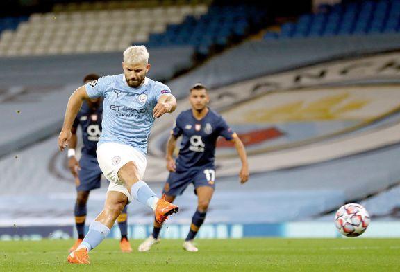 Champions: El Kun volvió  al gol en el triunfo del City
