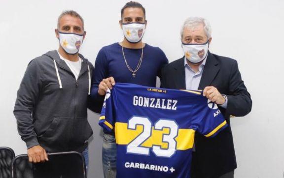 El Pulpo González firmó su contrato y se suma al plantel de Boca