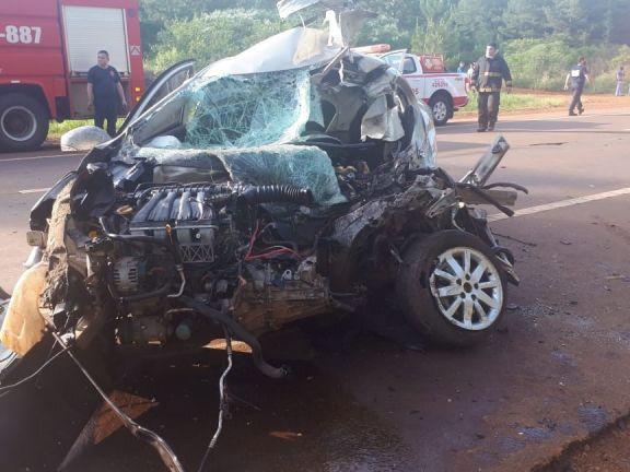 Campo Ramón: accidente sobre ruta 14 dejó tres hombres lesionados