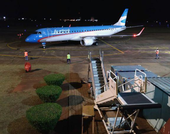 Arribó a Posadas el primer vuelo de cabotaje tras siete meses de parate