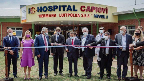 Asfalto y nuevo hospital, las obras que inauguró Alberto en Capioví