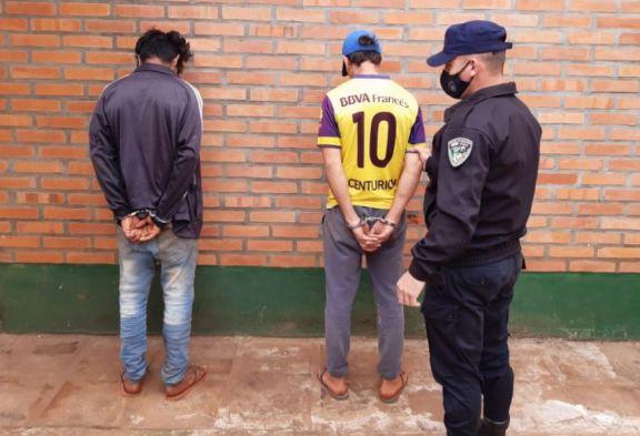 Fueron detenidos por tentativa hurto en San Pedro