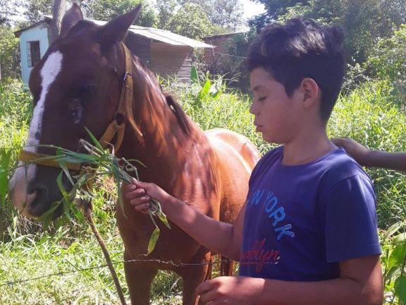 Un gesto, un caballo y sueño cumplido para un niño no vidente de 11 años