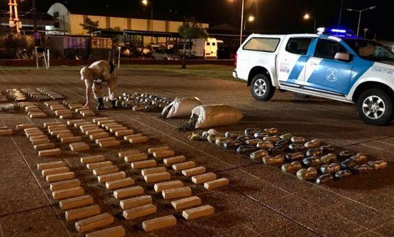 Secuestran más de 163 kilos de marihuana en Posadas