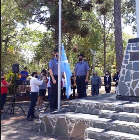Ituzaingó: recordaron el primer izamiento del pabellón nacional en Malvinas