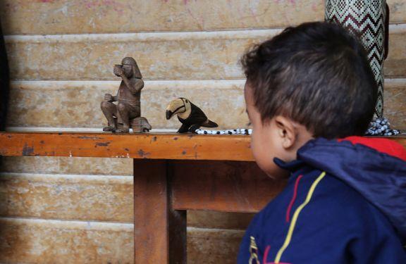 Animales de monte tallados en madera, modo de ver el mundo