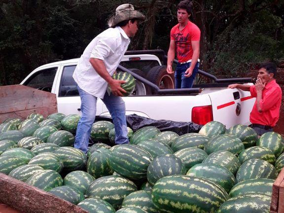 La producción de sandías de San Vicente disponible en el mercado local