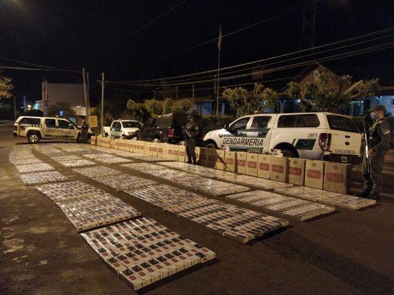 Contrabando: En tres días incautaron casi 68.000 paquetes de cigarrillos en Misiones