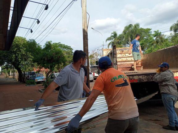 El municipio de Apóstoles asistió a vecinos afectados por el temporal
