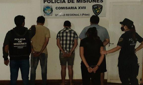 Posadas: cuatro detenidos por dos robos en modalidad barreteros