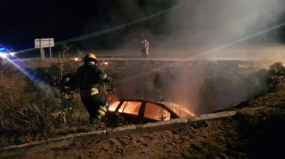 Misionero herido al despistar sobre la ruta 14 en Entre Ríos