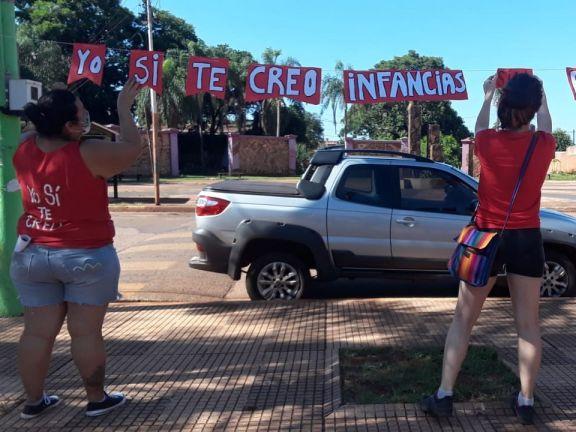 """Bajo el lema """"Yo si te creo"""" las mujeres autoconvocadas se movilizaron en Iguazú"""