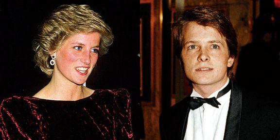 La noche que Michael Fox casi abraza a Diana