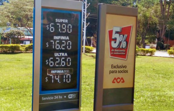 Tras la nueva suba, la nafta Súper en el interior roza los 68 pesos por litro