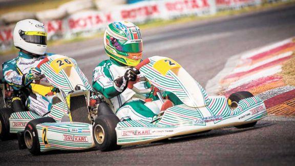 Grimaldi subió al podio y sigue prendido en la Rotax Bue