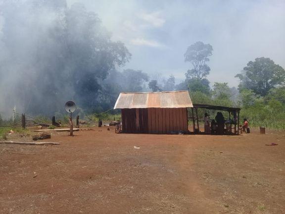 Alerta en la comunidad Alecrín por un incendio forestal