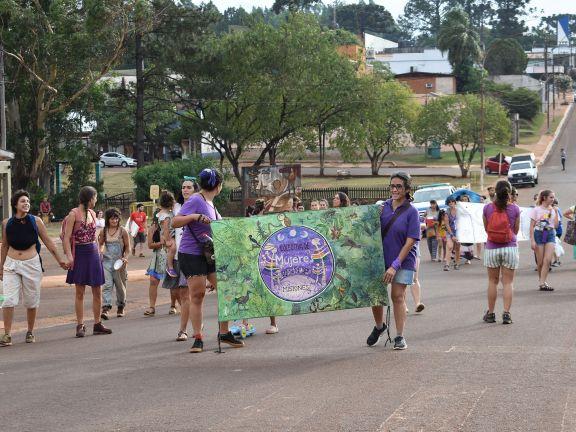 San Pedro: Marcharon contra la violencia de género como manera de prevenir nuevos femicidios