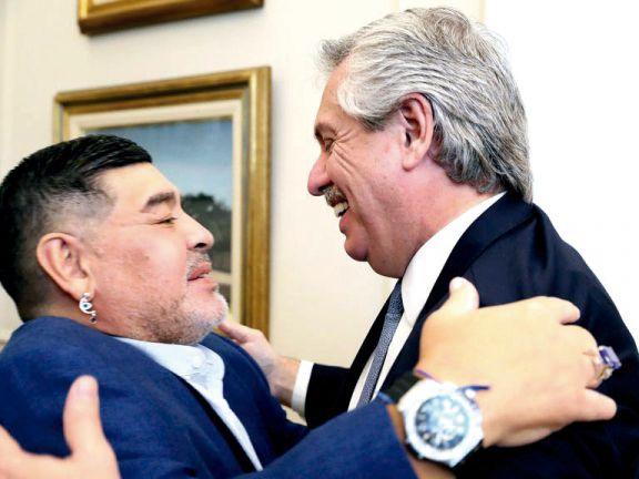 """Diego era Argentina en el mundo"", afirmó Fernández"