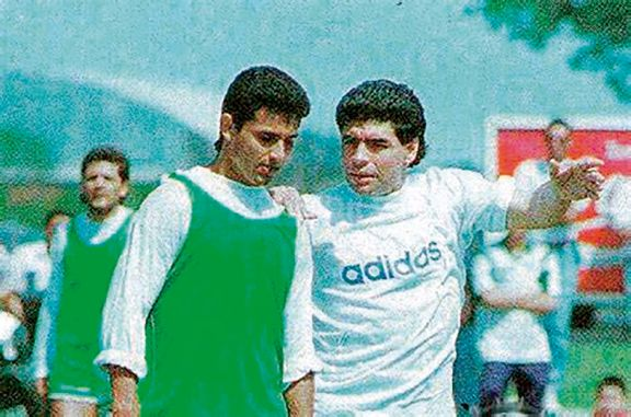 Herrera Ahuad recordó a Maradona en Mandiyú