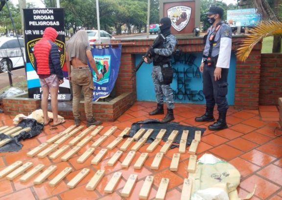 Incautan media tonelada de marihuana durante operativo en San Vicente