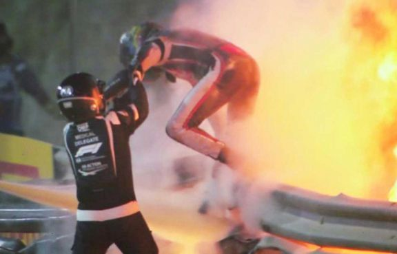 Grosjean, el piloto accidentado en Bahréin, será dado de alta este martes