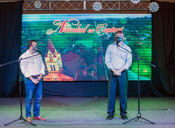 Herrera Ahuad inauguró la Fiesta de la Navidad en Capioví
